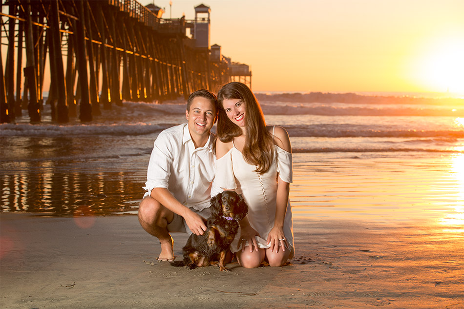 family portraits with pet oceanside